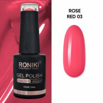 Oja Semipermanenta Roniki Rose Red 03